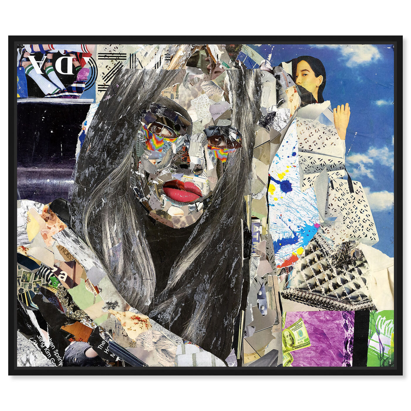 Front view of Katy Hirschfeld - Elegant Flow featuring fashion and glam and portraits art.