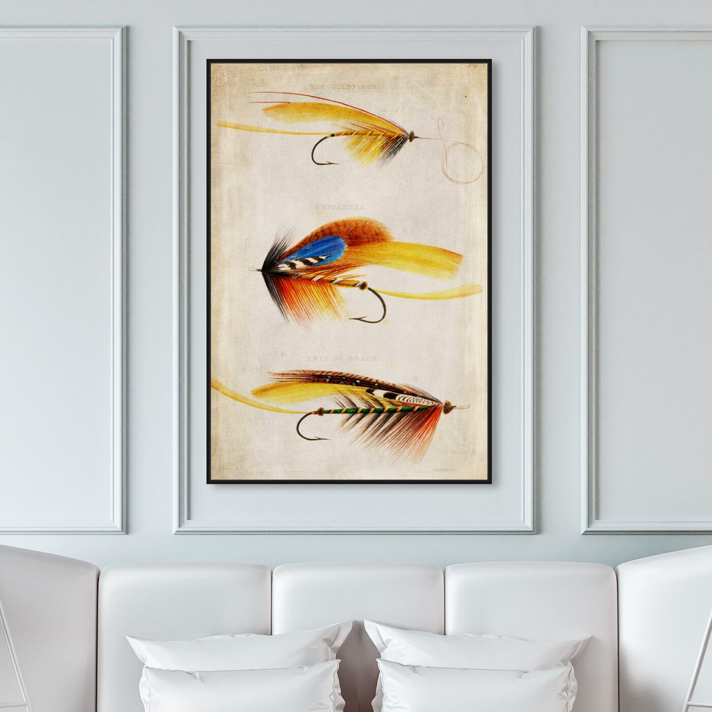 Hanging view of Goldfinch featuring entertainment and hobbies and fishing art.