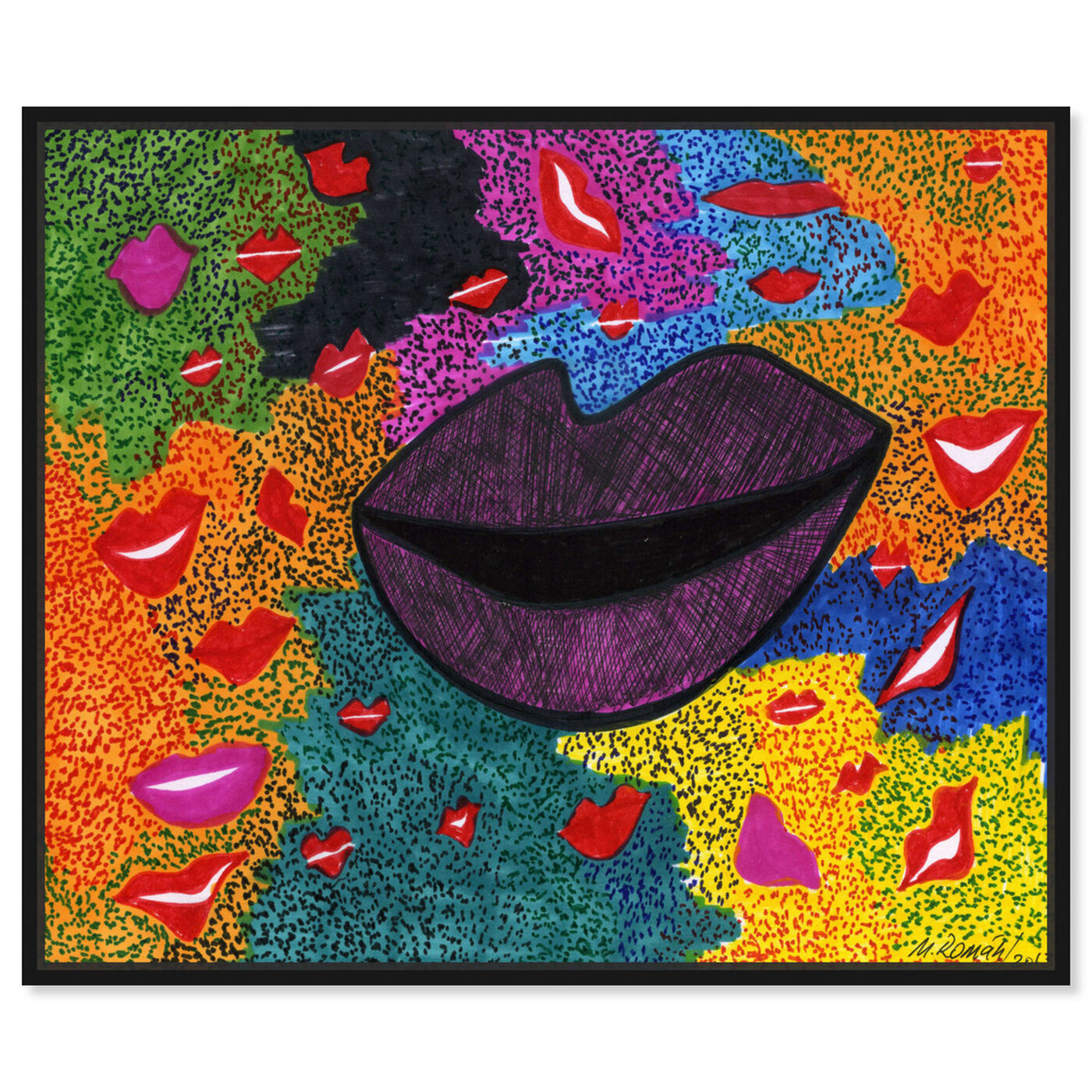 Front view of Laughter featuring fashion and glam and lips art.
