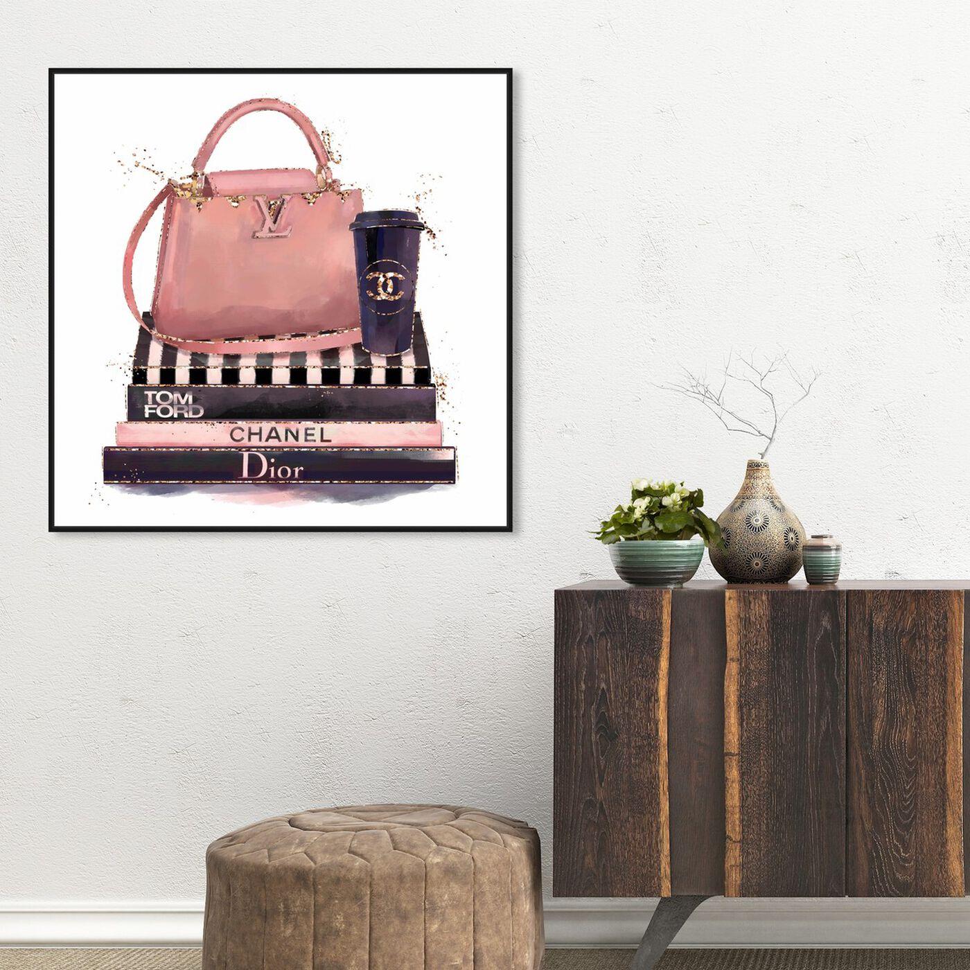 Hanging view of Treasured Handbag featuring fashion and glam and handbags art.