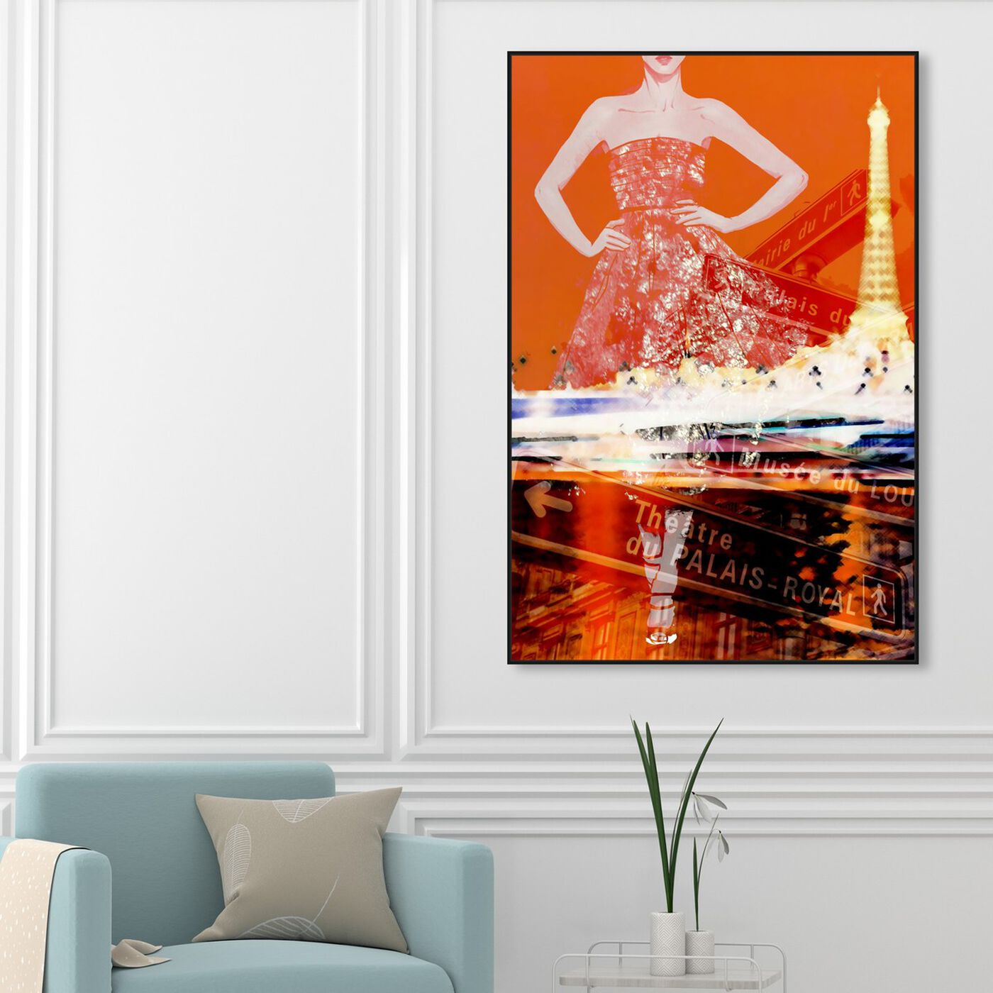 Hanging view of Paris Is My Runway featuring fashion and glam and dress art.