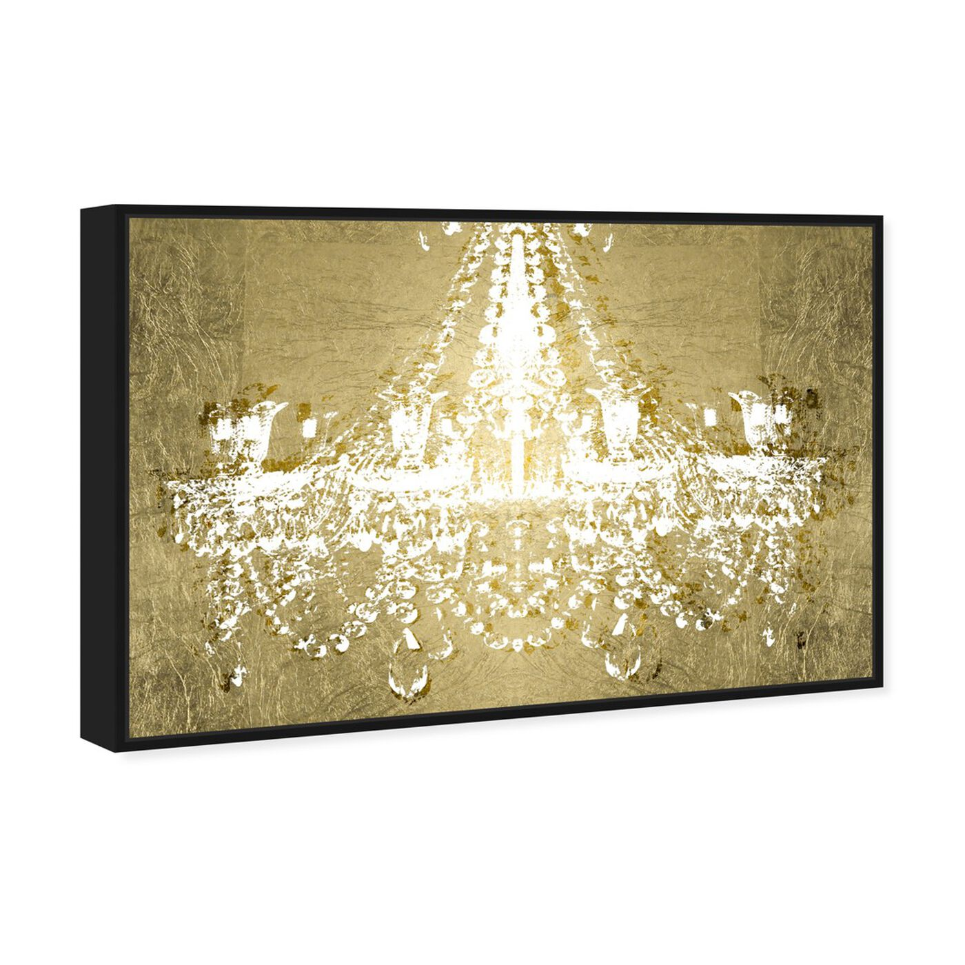 Angled view of Dramatic Entrance GOLD featuring fashion and glam and chandeliers art.