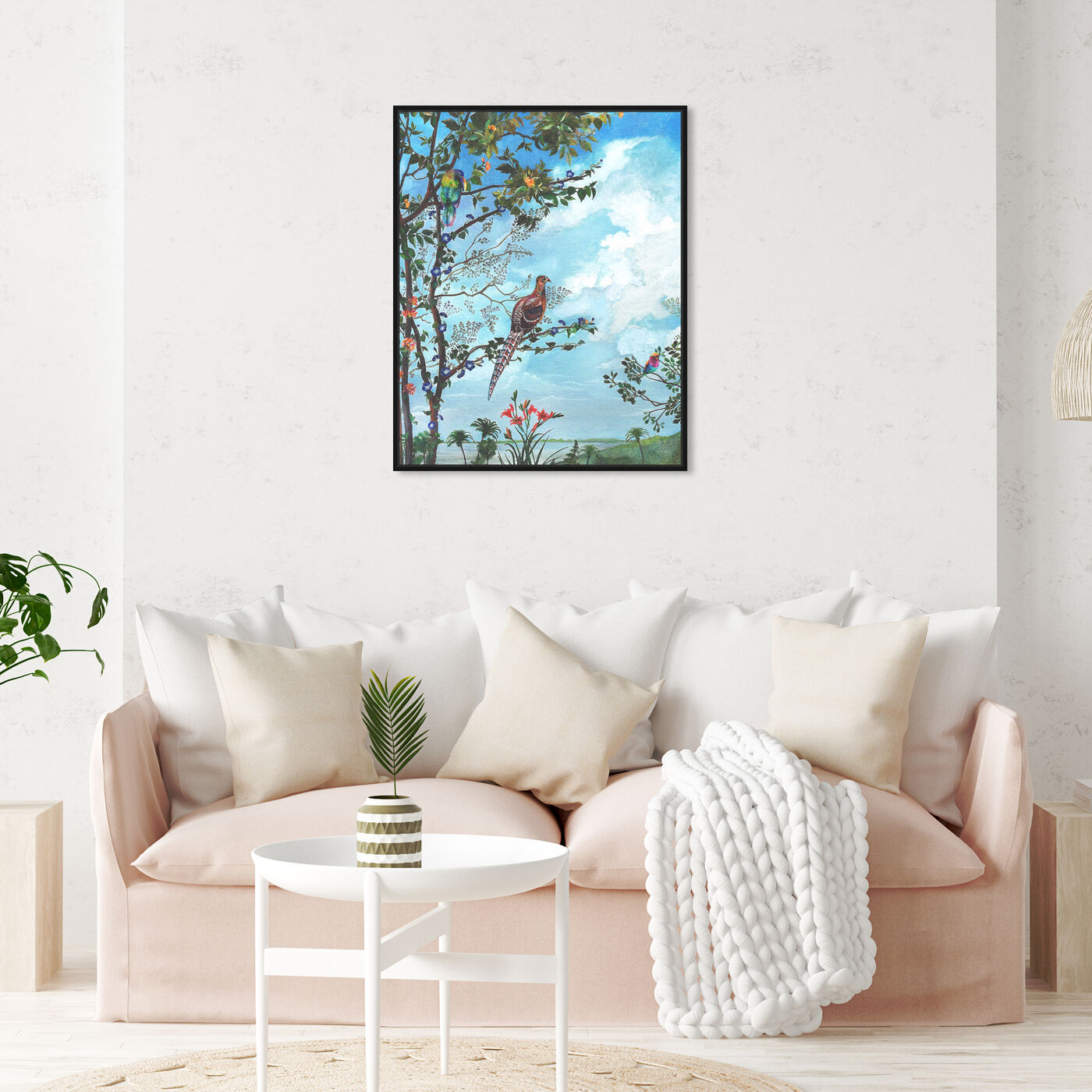 Hanging view of Peaceful Moment Birds featuring animals and birds art.
