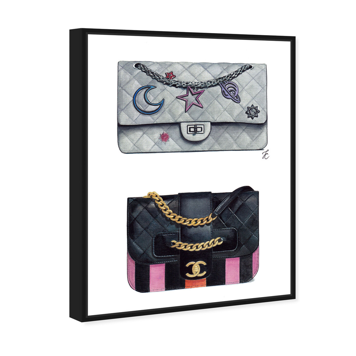 Angled view of Doll Memories - Iconic Bag Beauty featuring fashion and glam and handbags art.