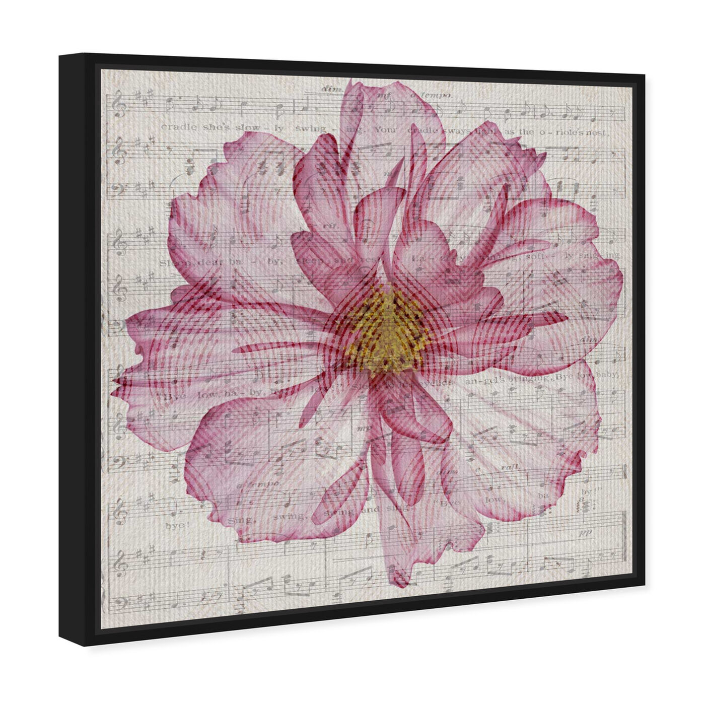 Angled view of Letters East in Marsala featuring floral and botanical and florals art.