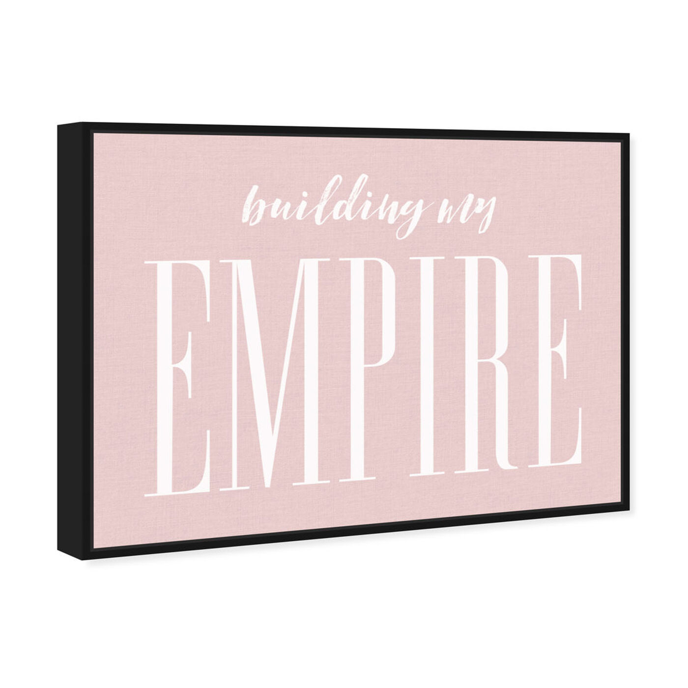 Angled view of Building my Empire Rose featuring typography and quotes and motivational quotes and sayings art.