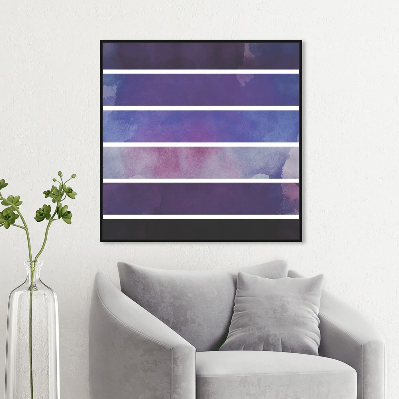 Hanging view of Plum Sprouts featuring abstract and paint art.