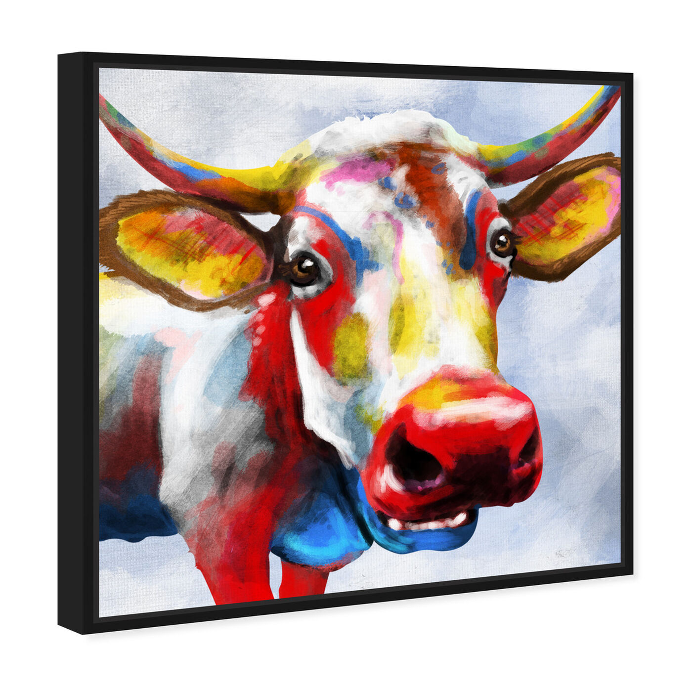 Angled view of Color Spash Bovine featuring animals and farm animals art.