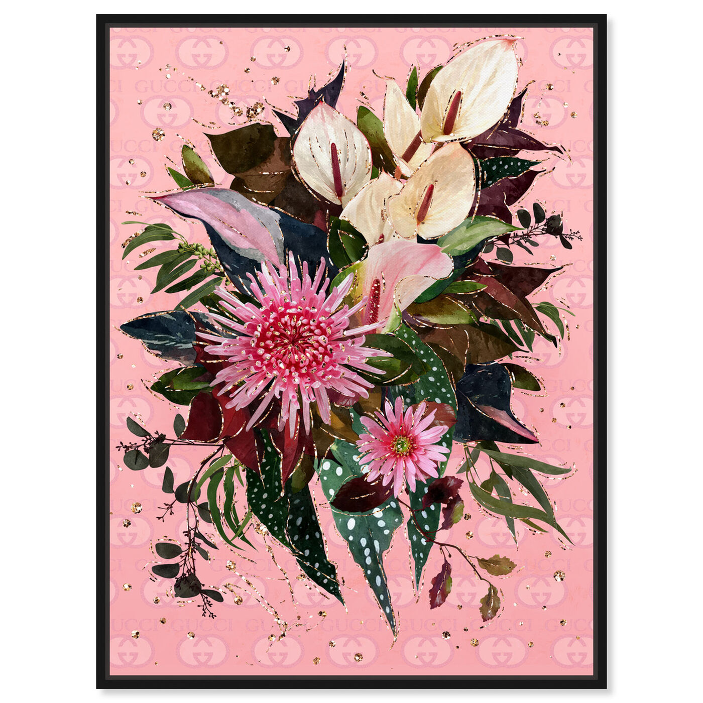 Front view of The Garden Bouquet featuring floral and botanical and florals art.