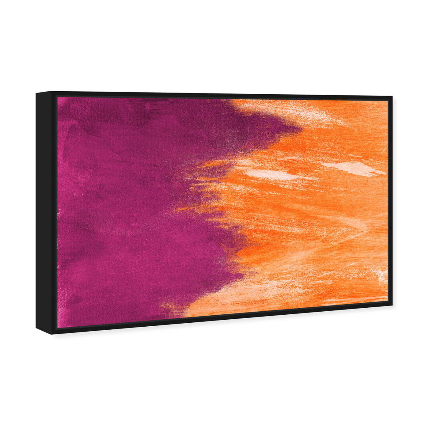 Angled view of Light symphony Orange featuring abstract and paint art.