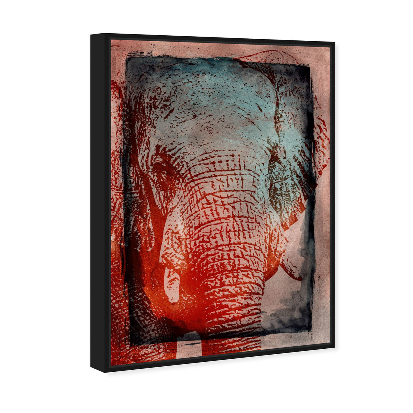 Angled view of Elephant in the Wild featuring animals and zoo and wild animals art.