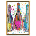 Front view of Dom P Trio Color featuring drinks and spirits and champagne art. image number null