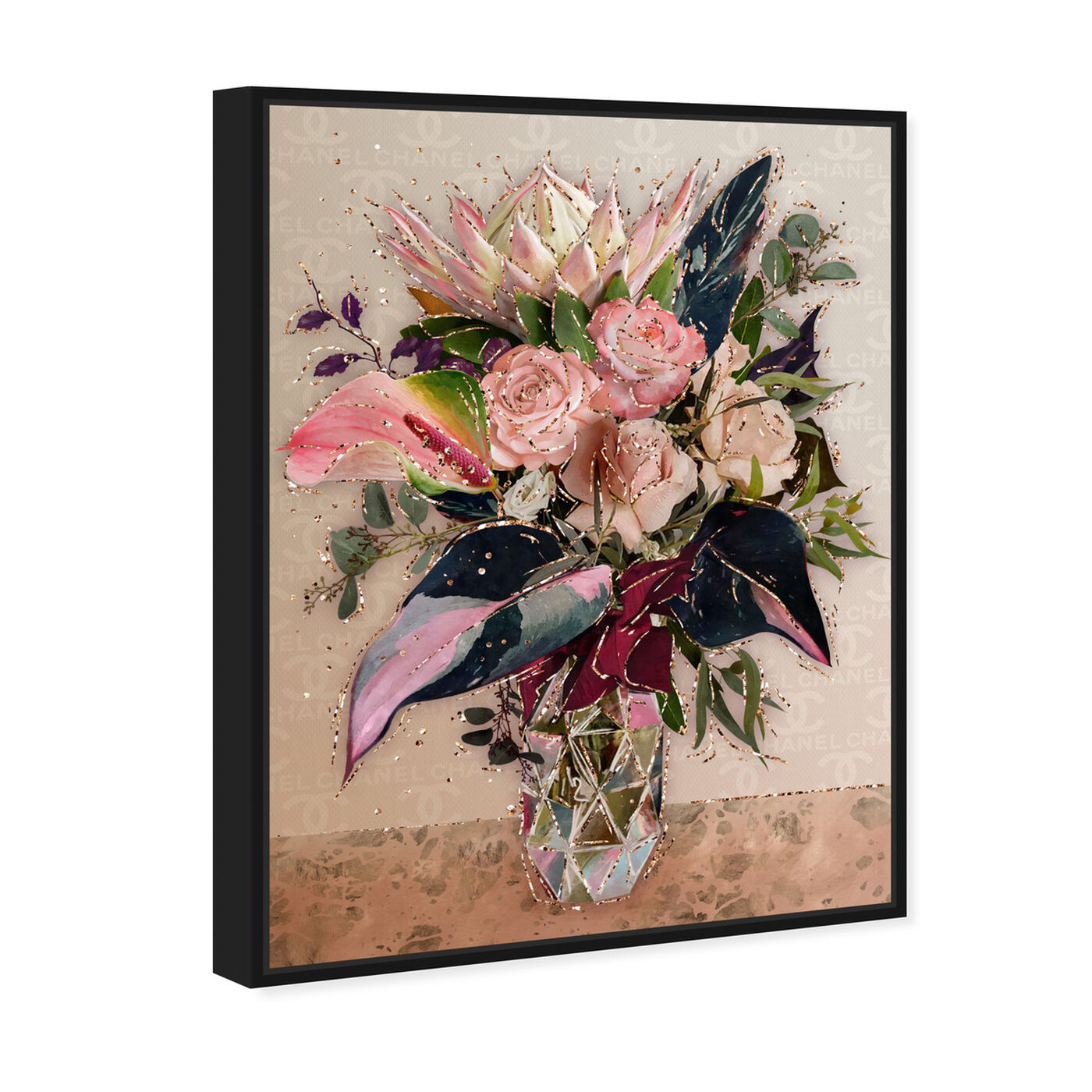 Angled view of Warm Coco Bouquet featuring floral and botanical and florals art.
