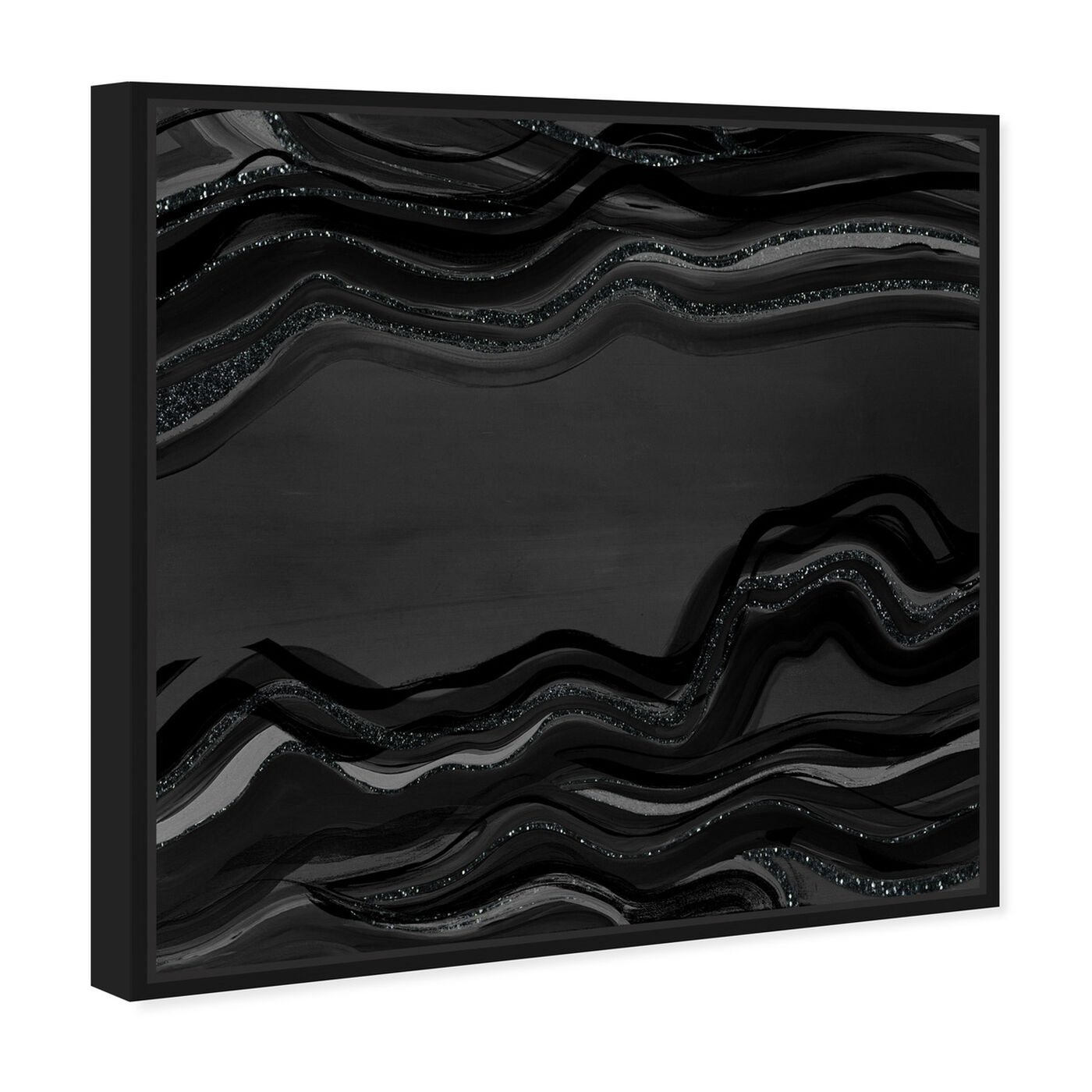Angled view of Night Flow Dark Glitter featuring abstract and paint art.