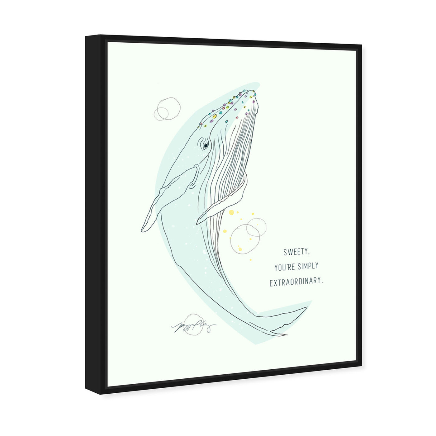 Angled view of Whale Calling by Maggie P. Chang featuring animals and sea animals art.
