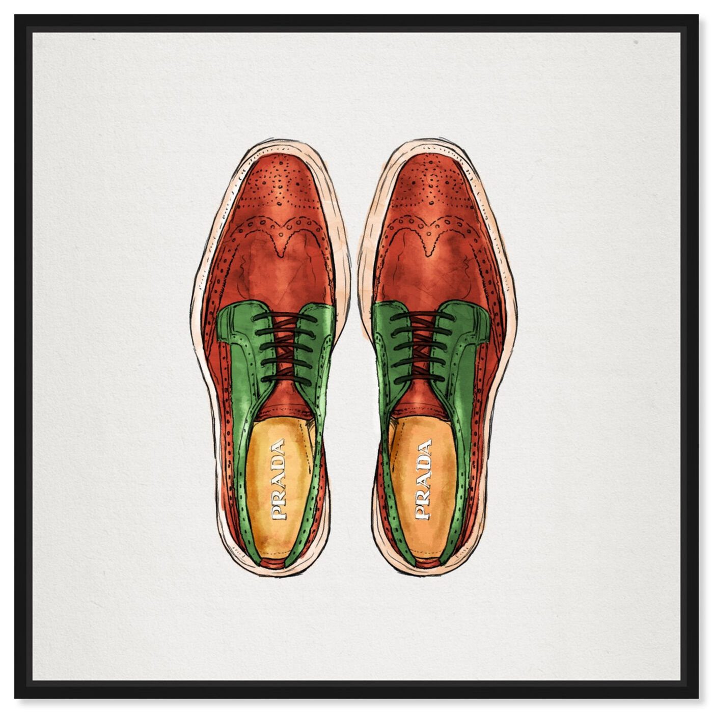 Front view of His Wingtips featuring fashion and glam and shoes art.