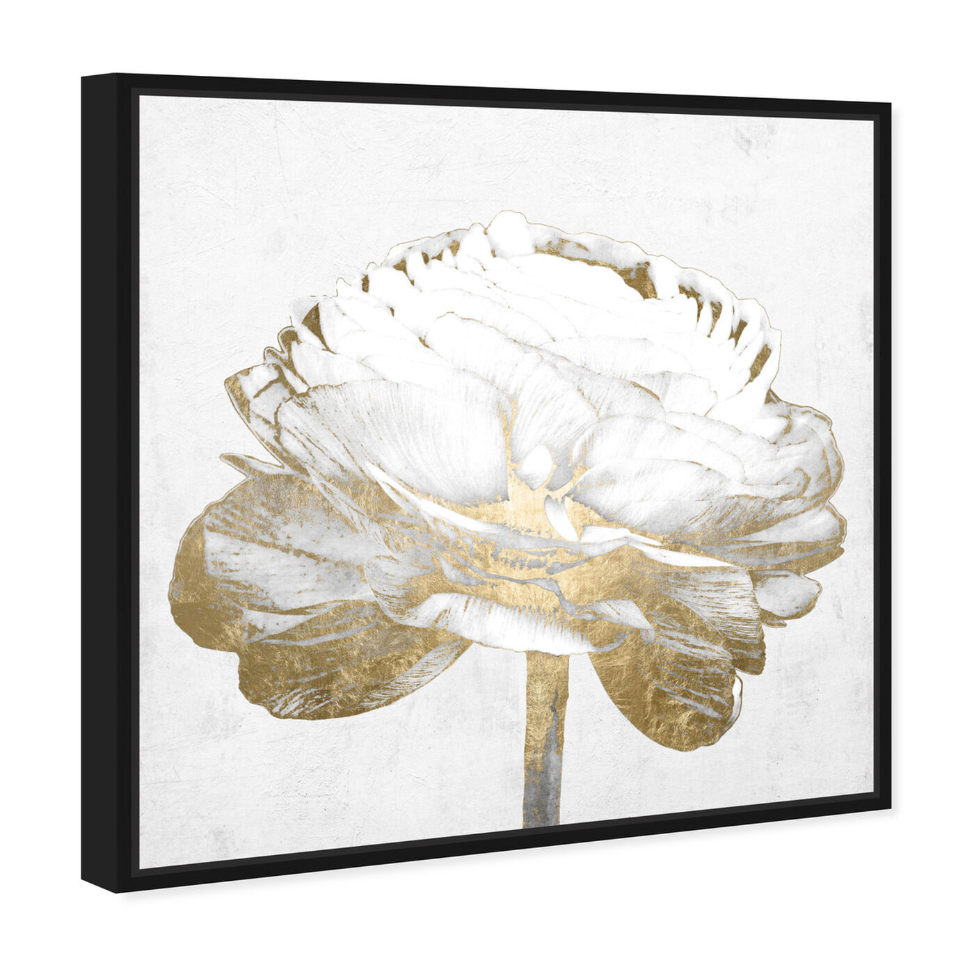 Angled view of White Love Peony Gold featuring fashion and glam and fashion art.