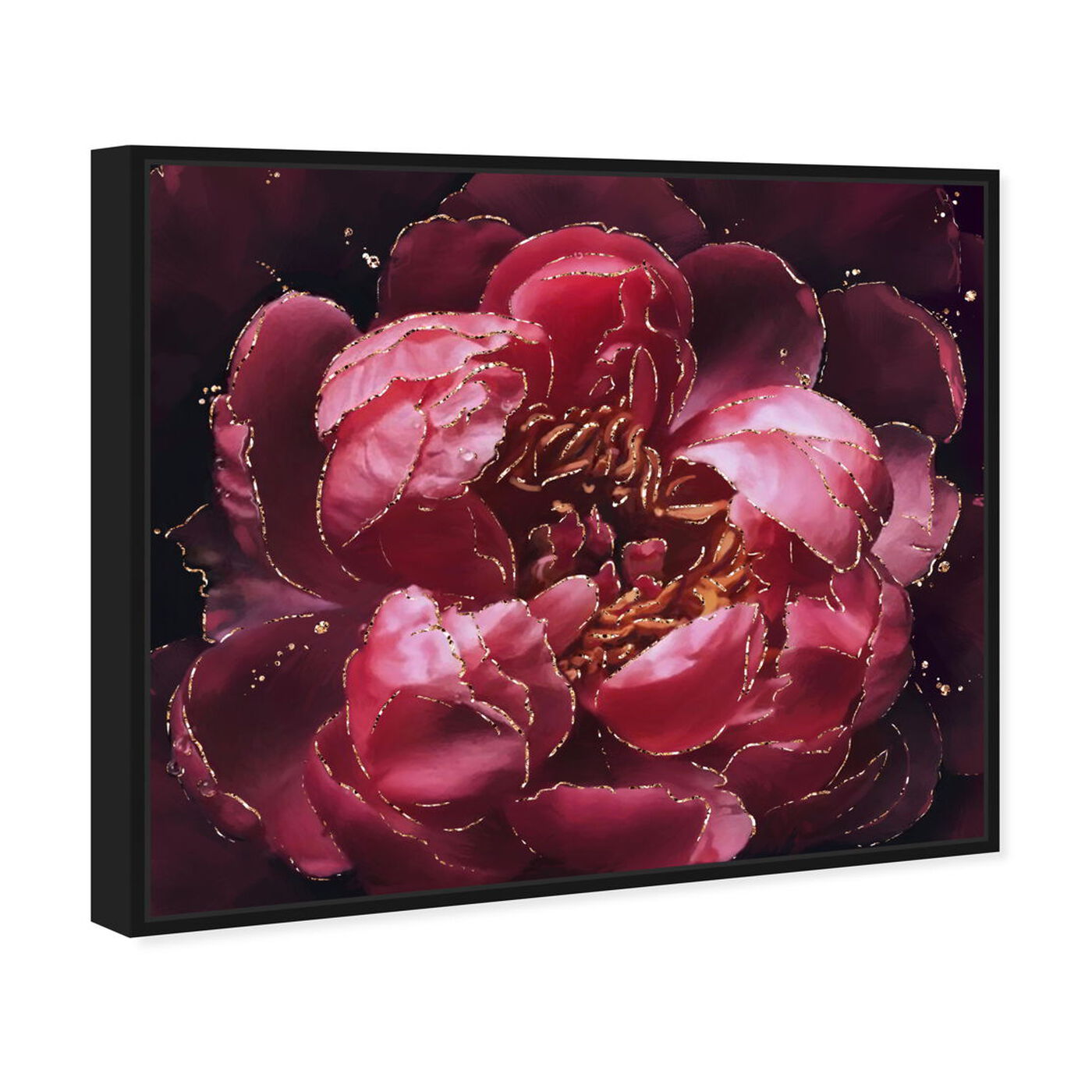 Angled view of Cherry Red Flower featuring floral and botanical and florals art.
