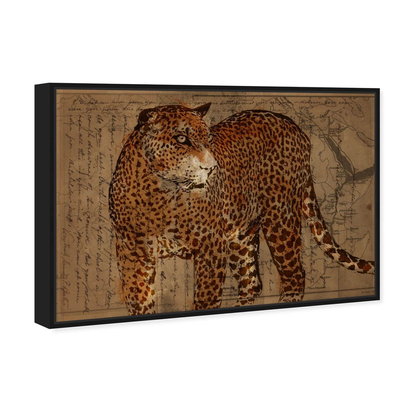 Angled view of Hunter featuring animals and felines art.