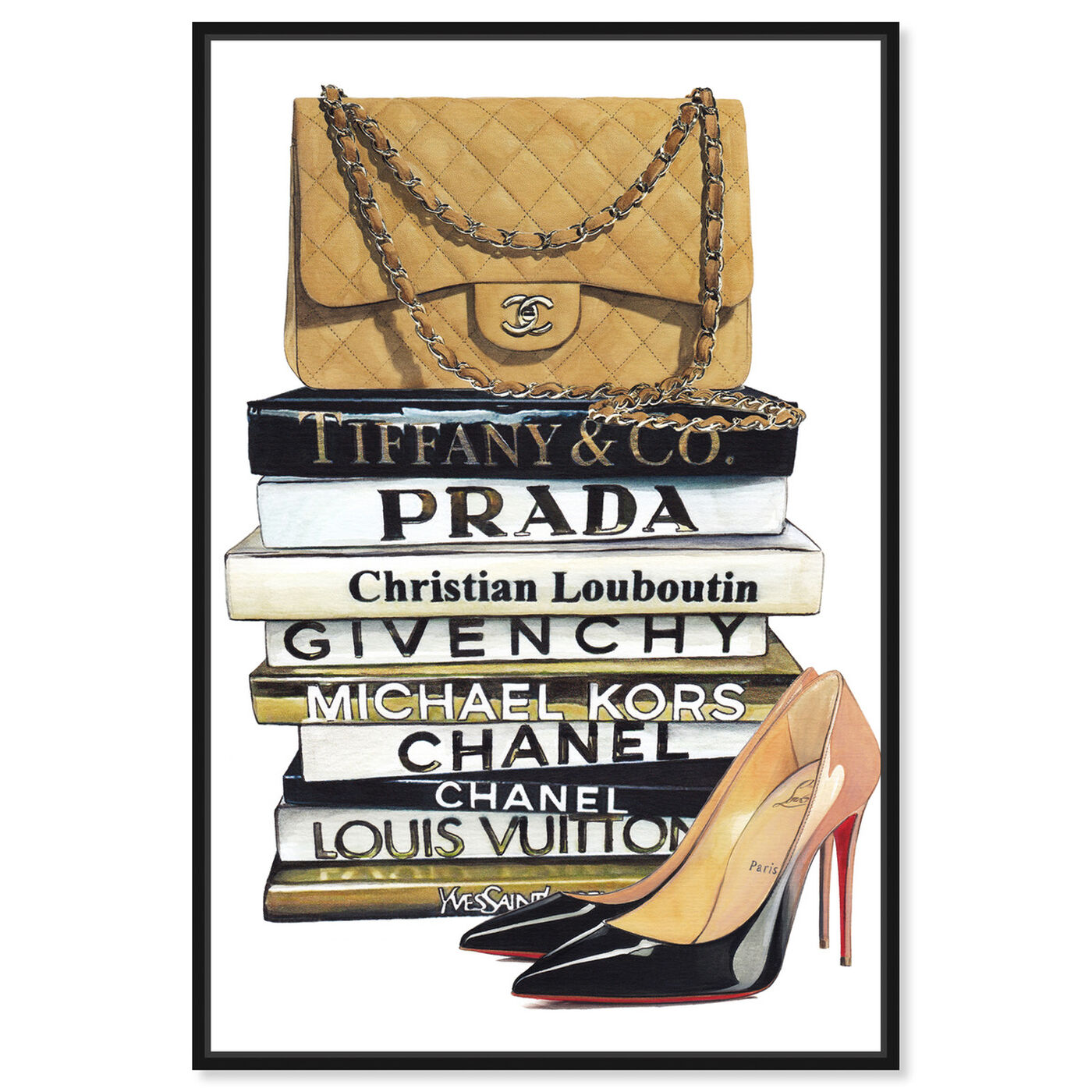 Front view of Parisian Standards featuring fashion and glam and handbags art.