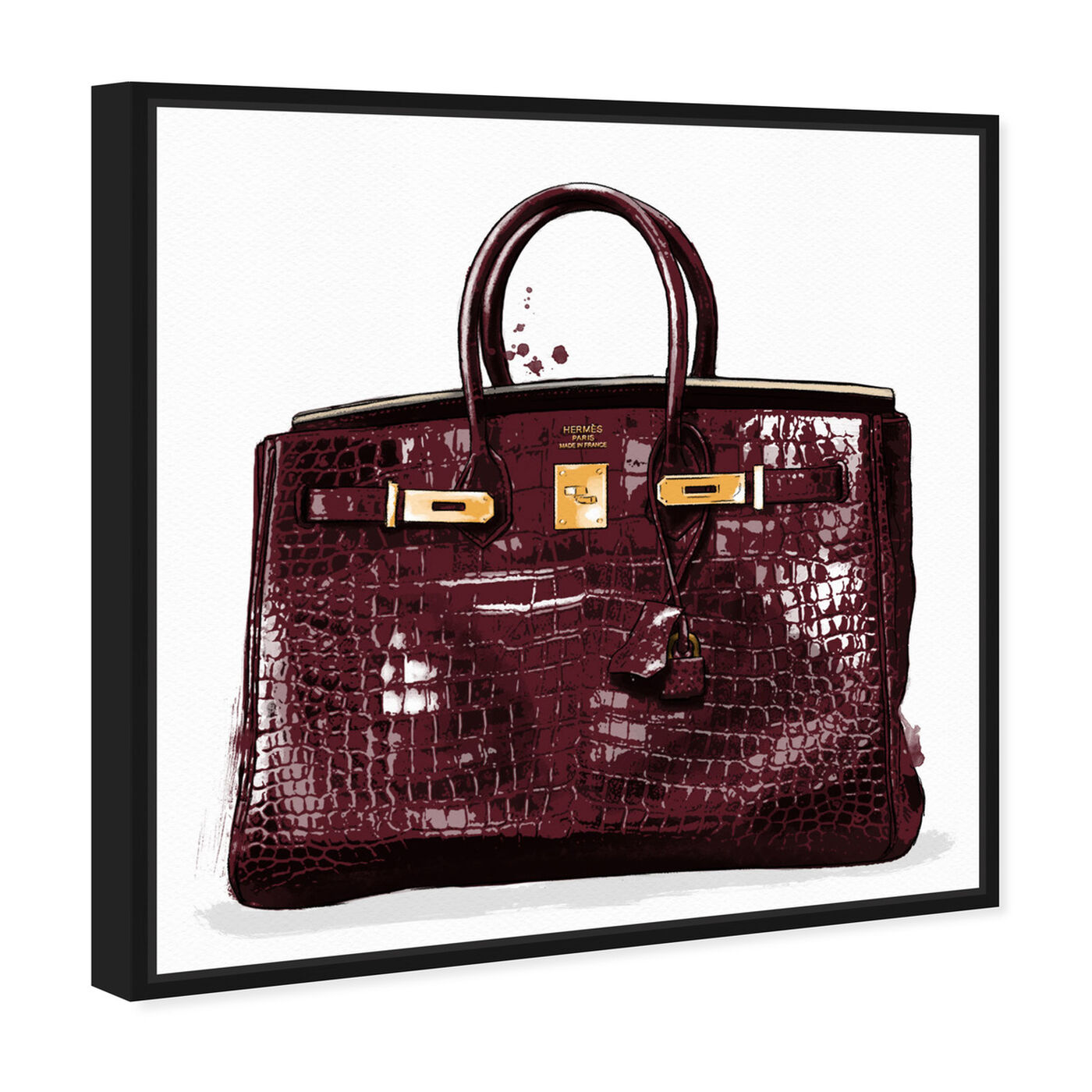 Angled view of Garnet Beauty featuring fashion and glam and handbags art.
