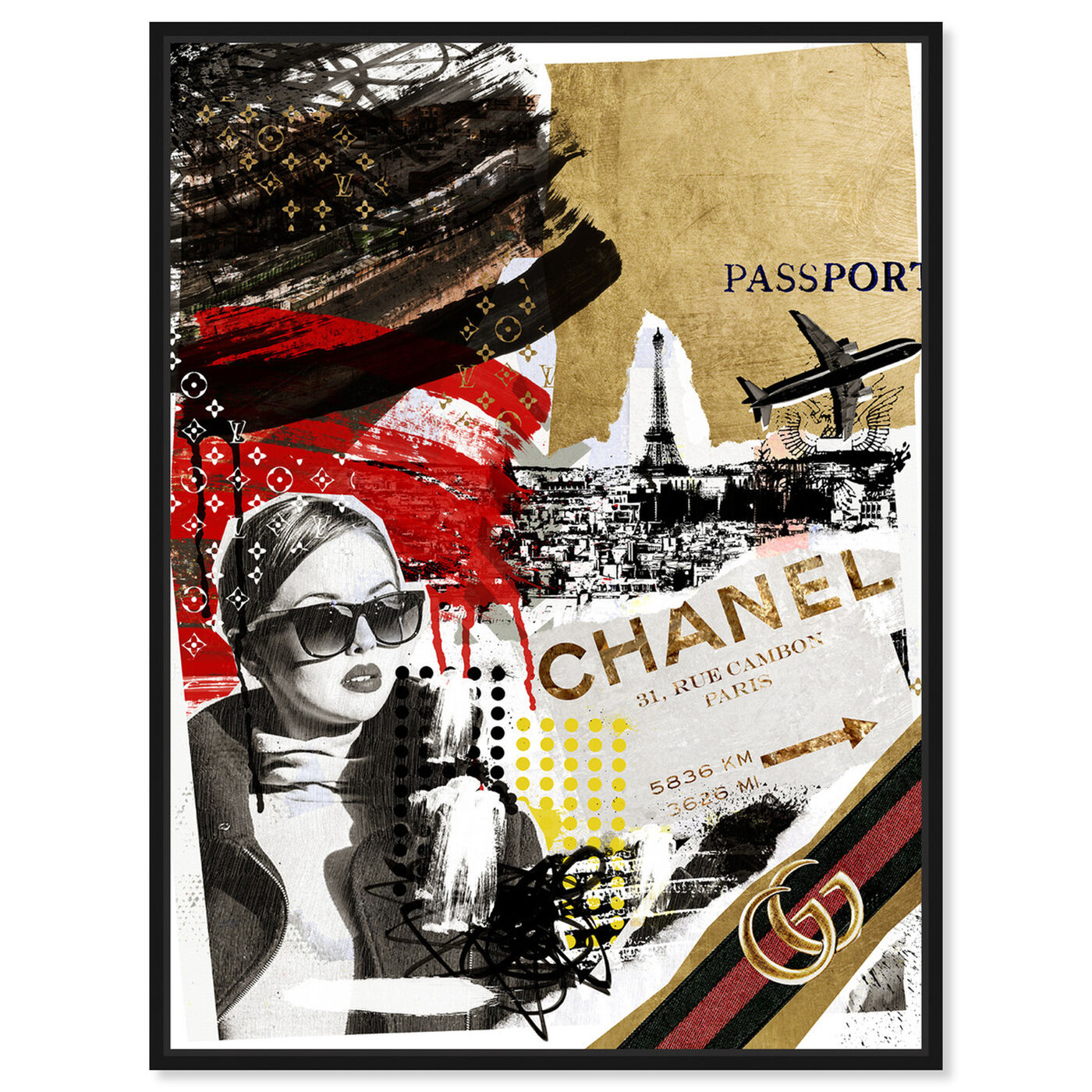 Front view of Passport to Paris featuring fashion and glam and travel essentials art.