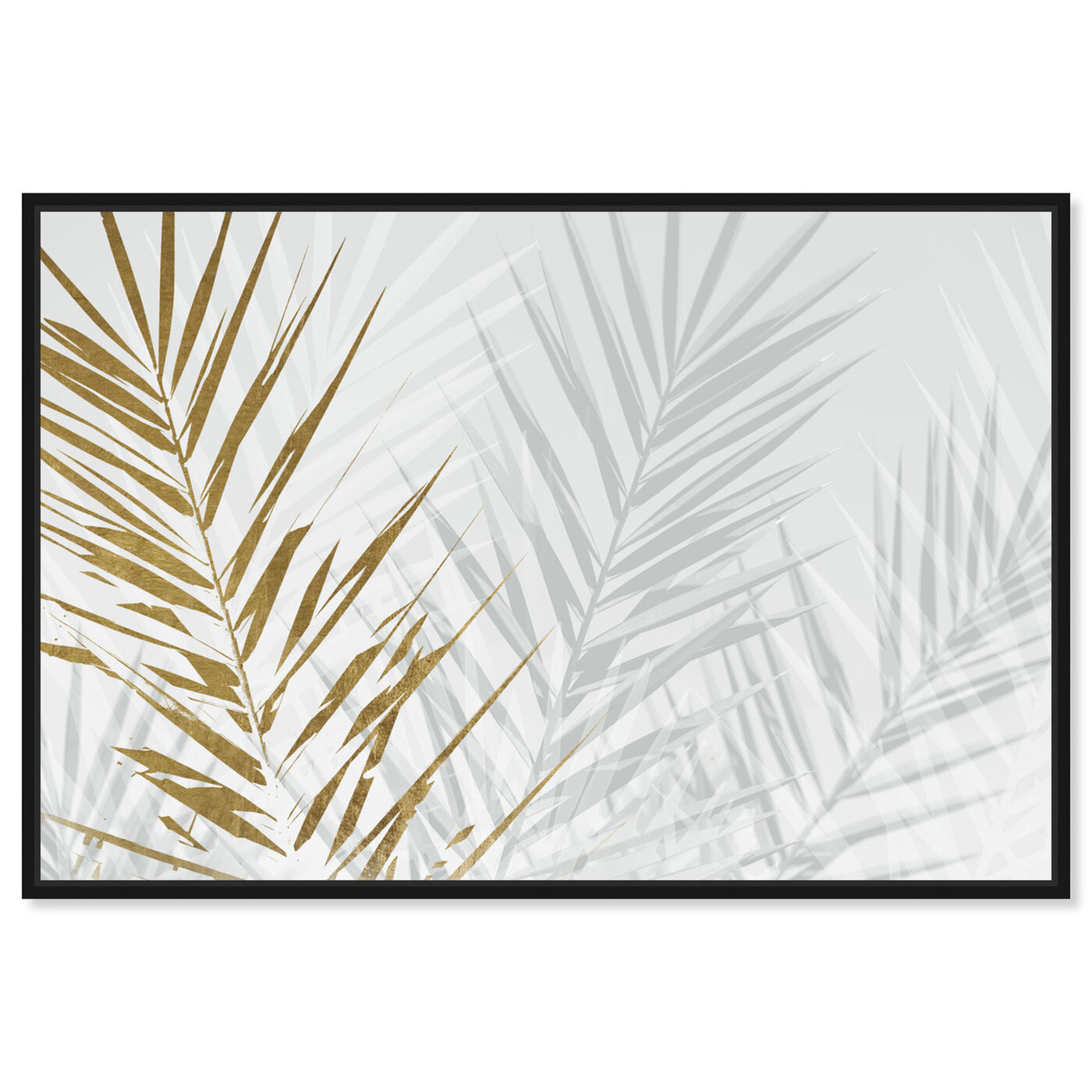Front view of Eucalyptus Palm Gold featuring floral and botanical and botanicals art.