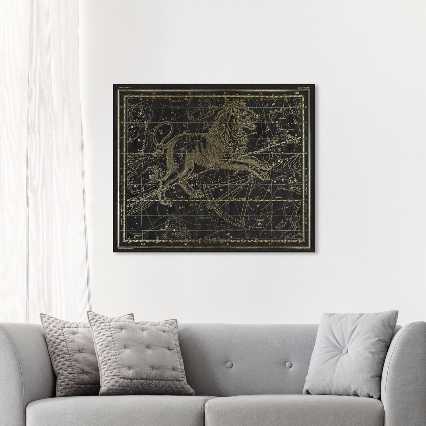Hanging view of Leo featuring astronomy and space and zodiac art.