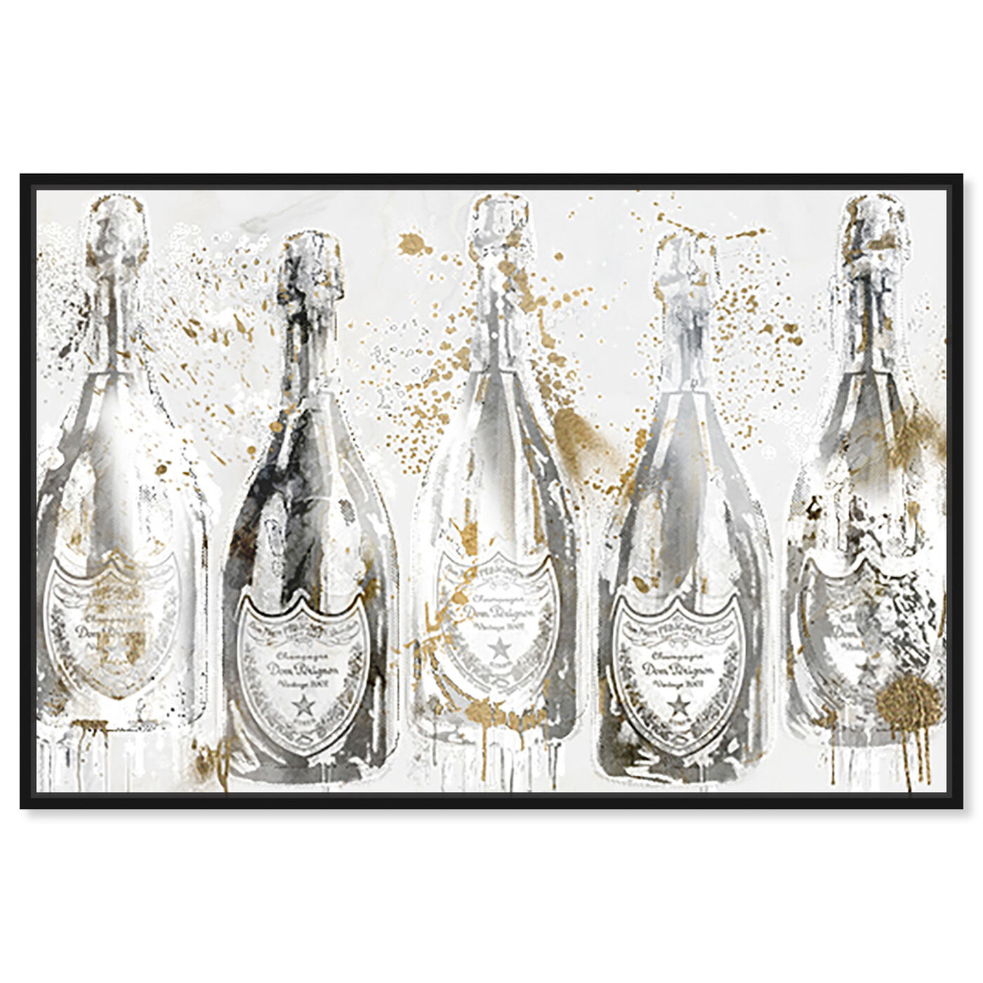 Front view of Party of Light with Champagne featuring fashion and glam and lifestyle art.