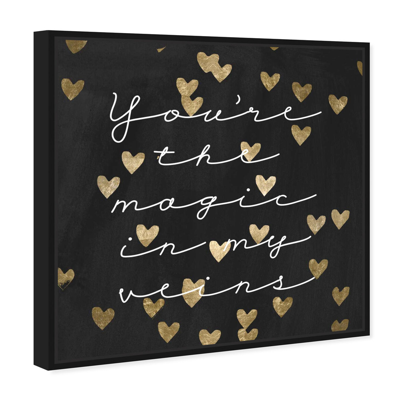 Angled view of Magic in Me Night featuring typography and quotes and love quotes and sayings art.