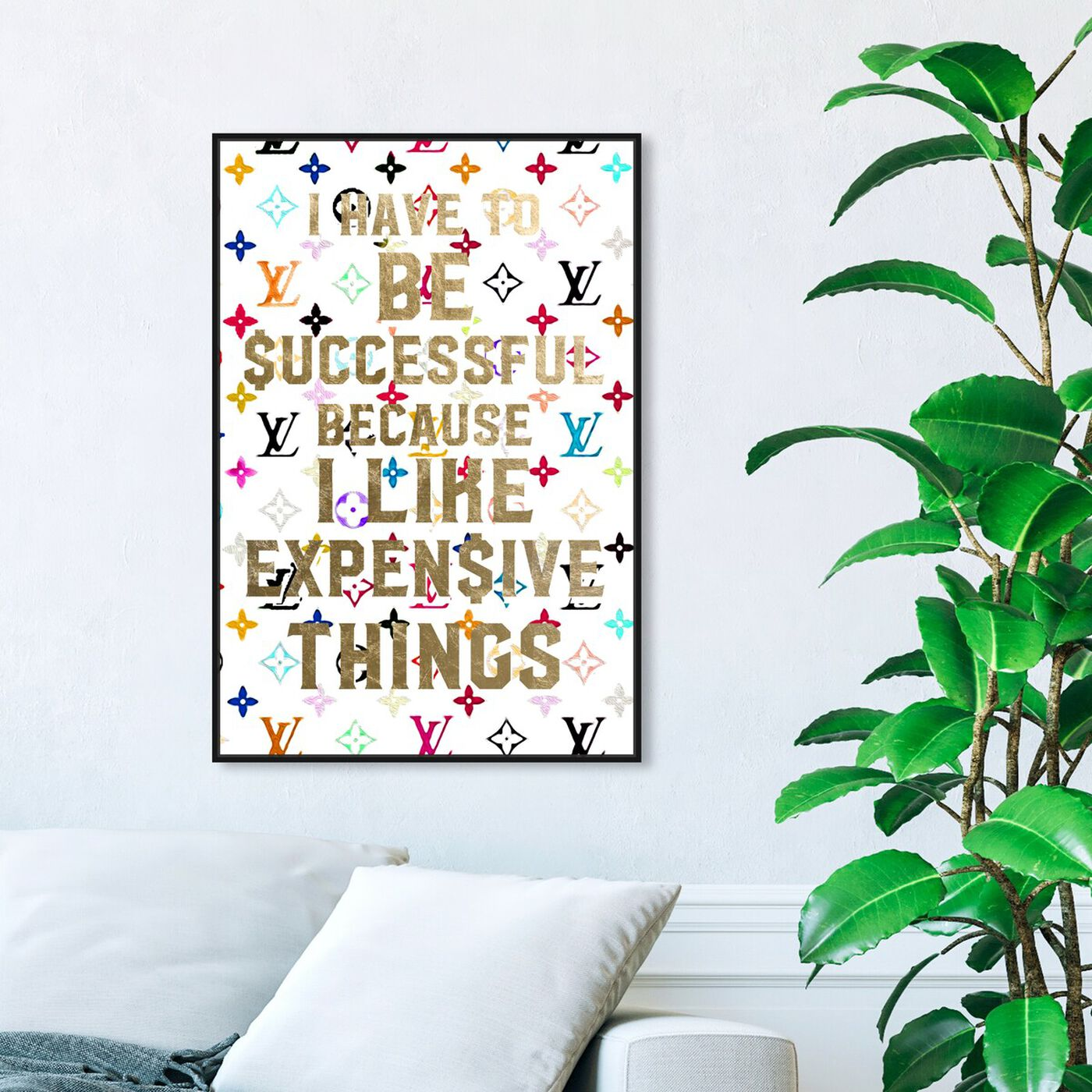 Hanging view of No Other Way Color featuring typography and quotes and fashion quotes and sayings art.