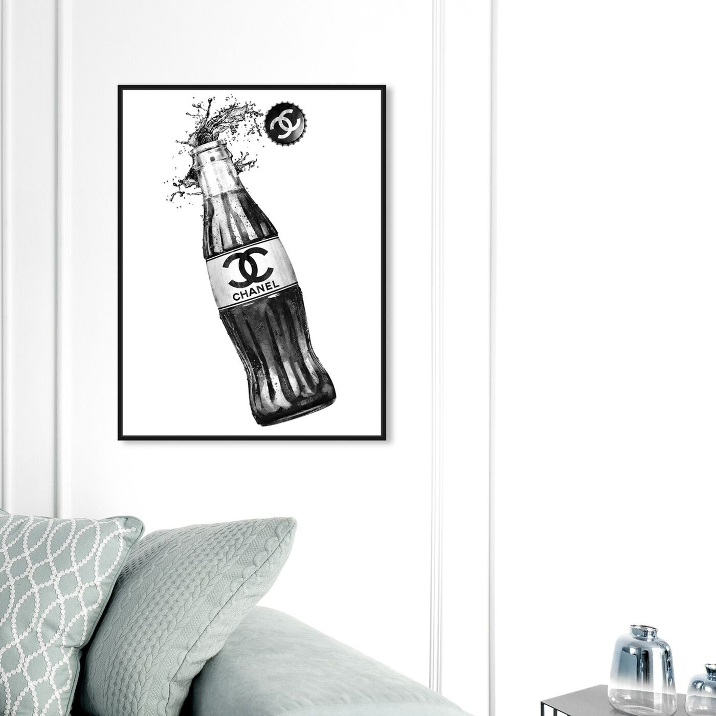 Hanging view of Fashion Soda Bottle featuring drinks and spirits and soda art.