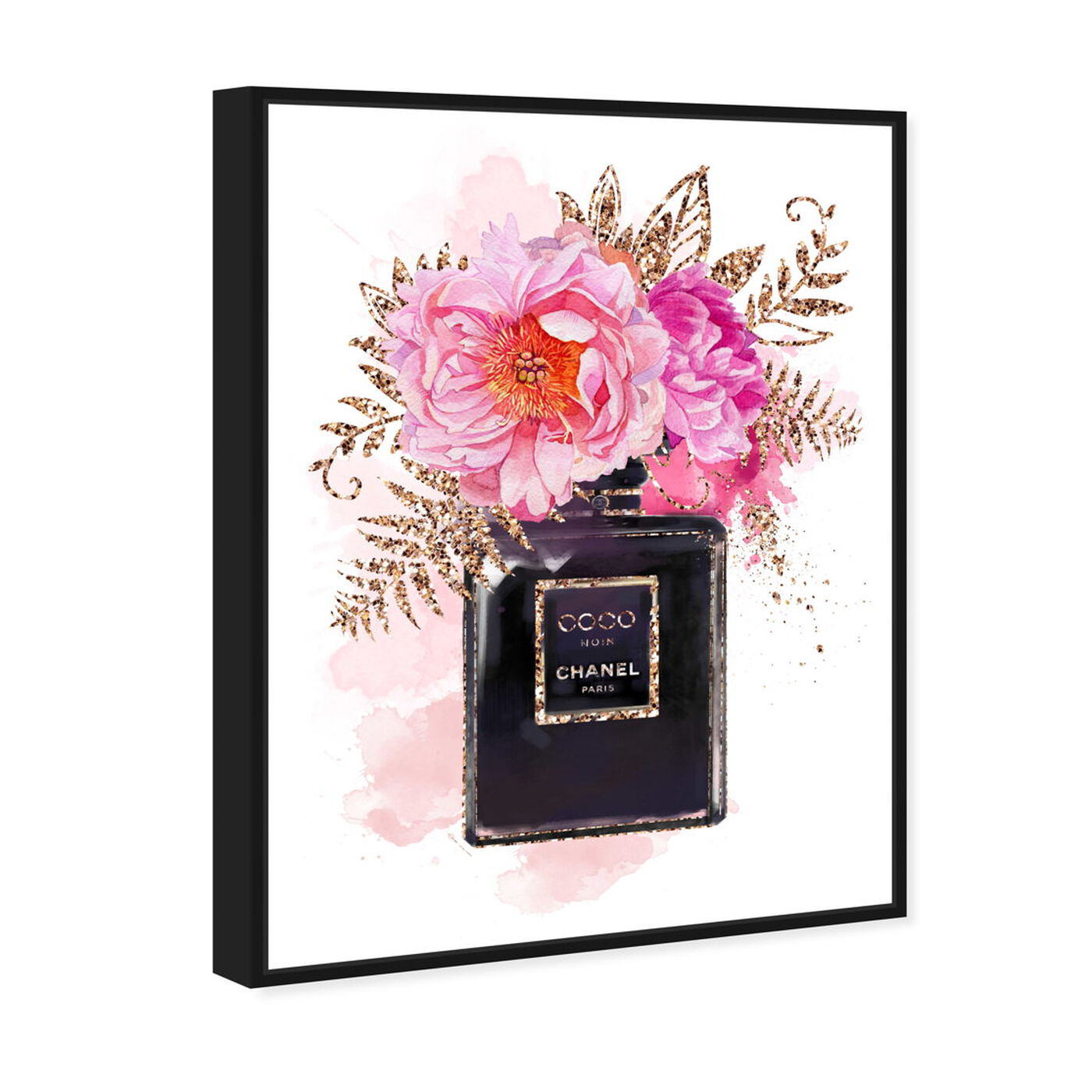 Angled view of Bottled Floral Scent featuring fashion and glam and perfumes art.