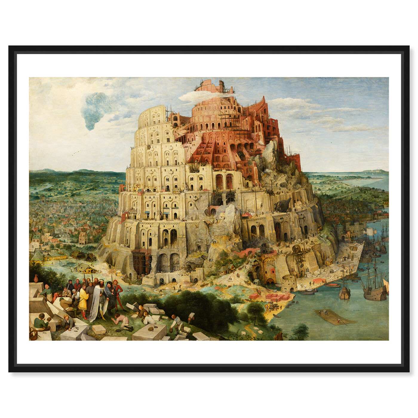 Front view of Bruegel - The Tower of Babel featuring classic and figurative and renaissance art.