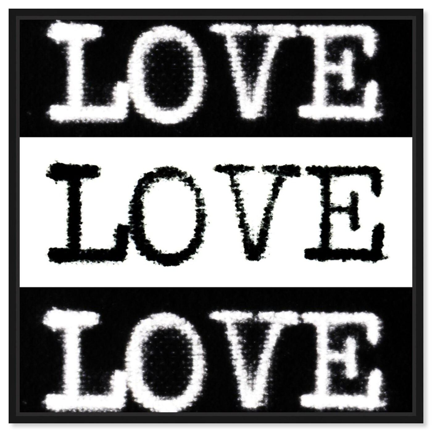 Front view of Phylum Design - Censored Love featuring typography and quotes and love quotes and sayings art.