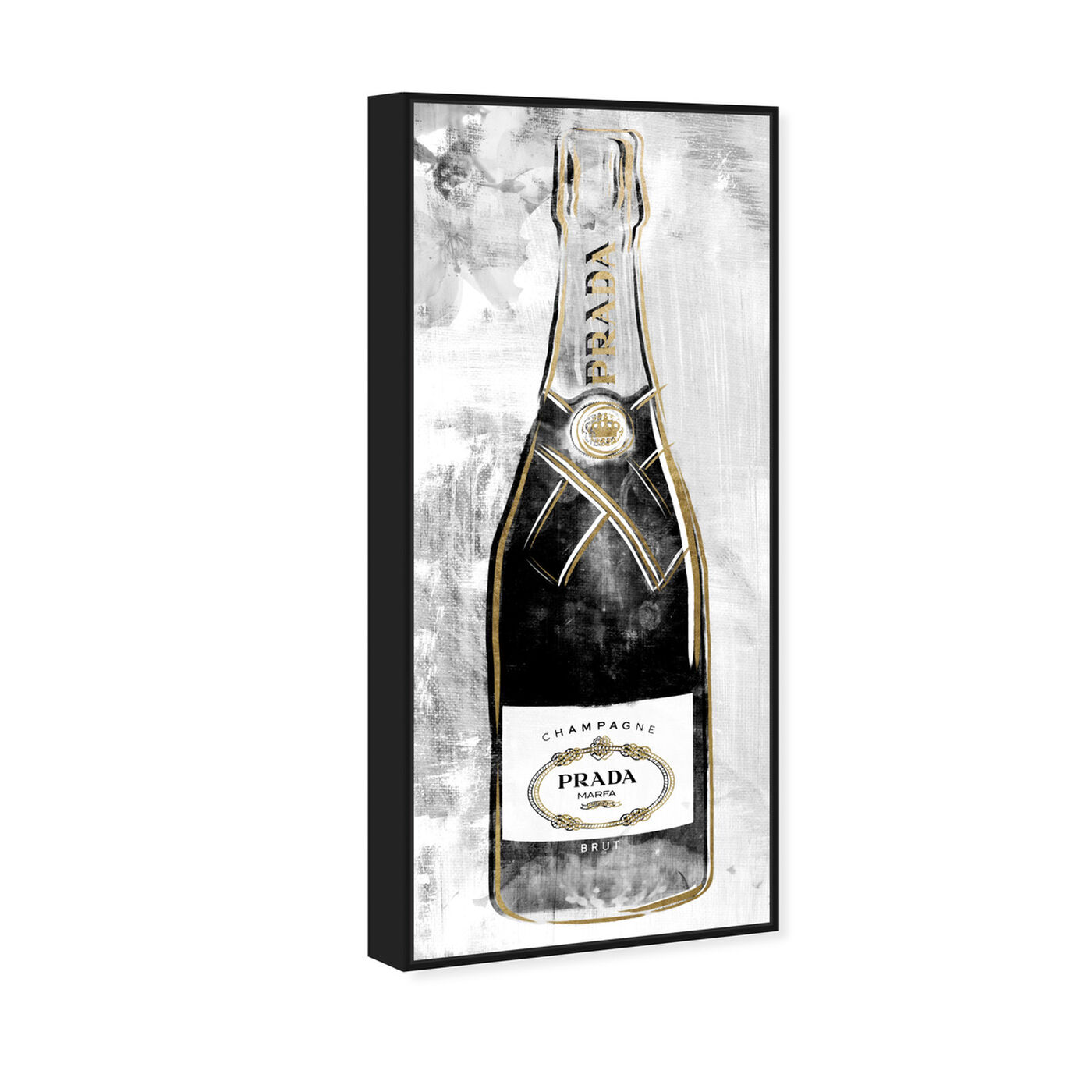 Angled view of Milan Champagne featuring fashion and glam and lifestyle art.