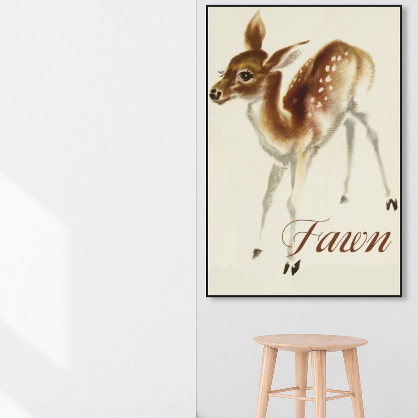 Hanging view of Fawn featuring animals and baby animals art.
