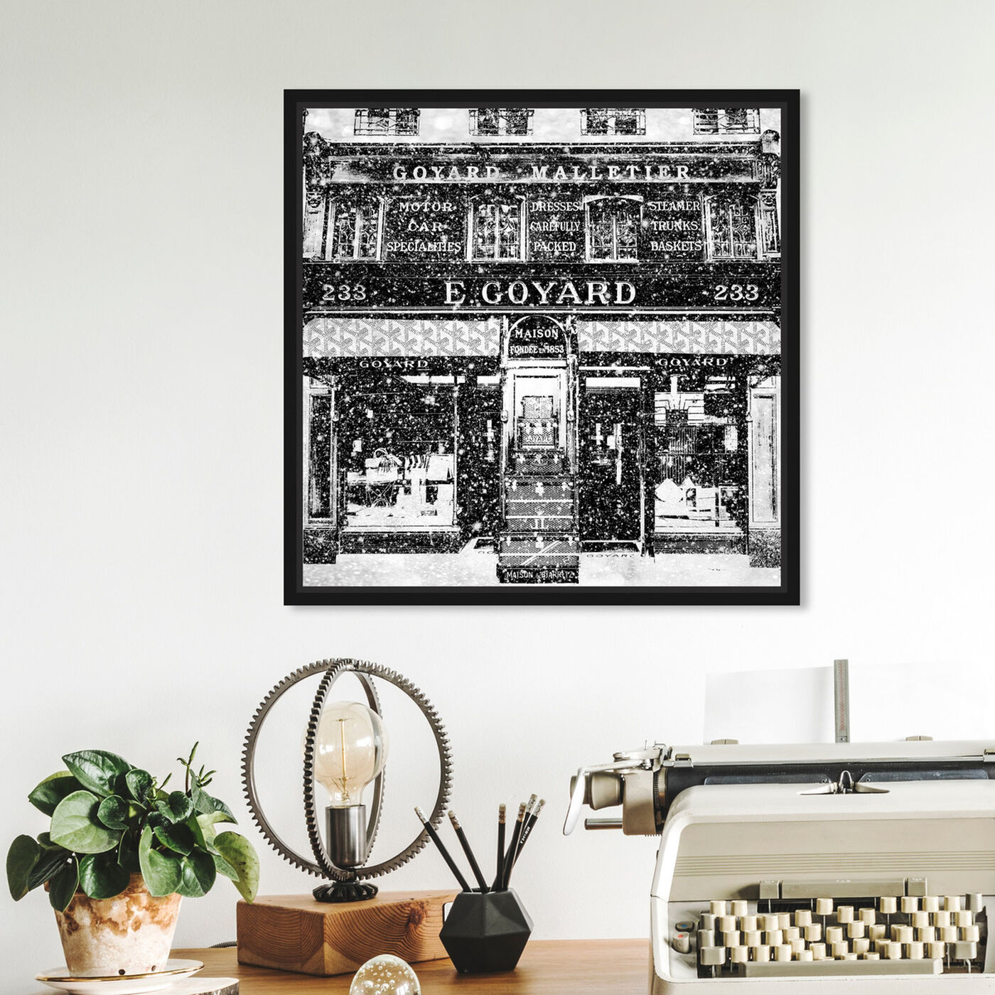 Hanging view of Travel Store Rue Saint-Honoré featuring cities and skylines and european cities art.