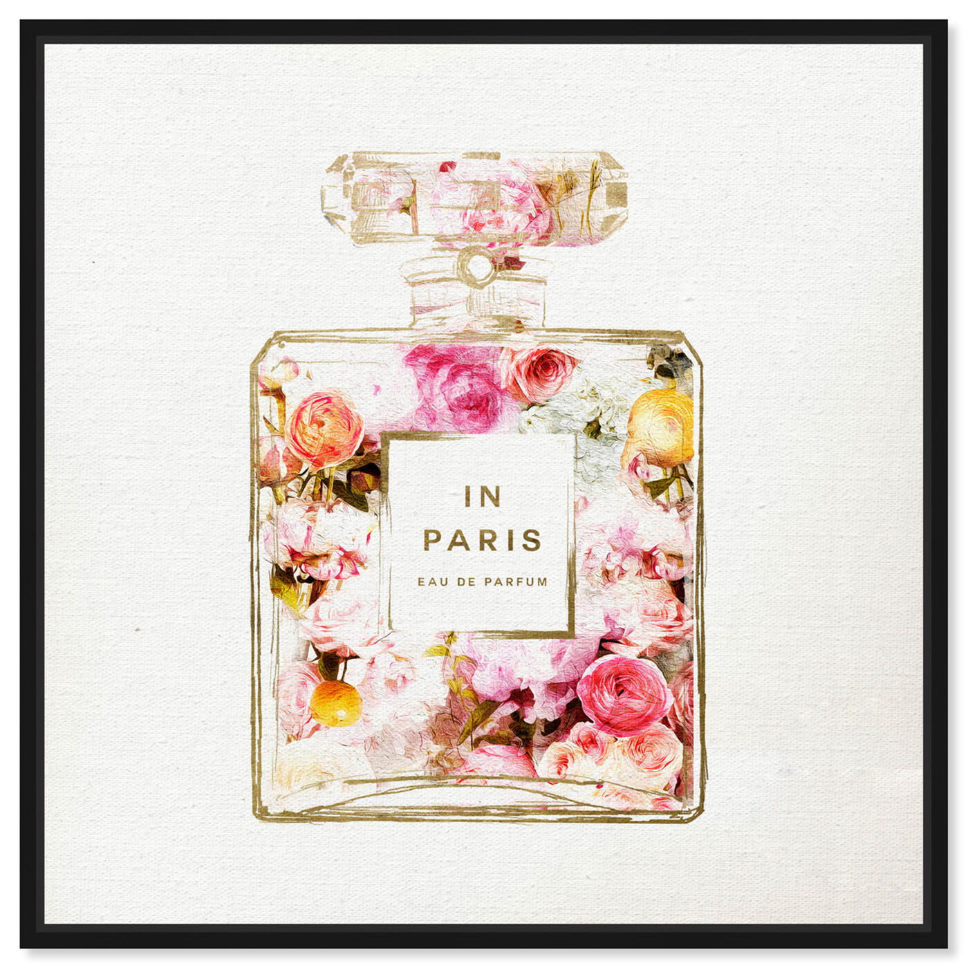 Front view of Paris Floral Perfume featuring fashion and glam and perfumes art.