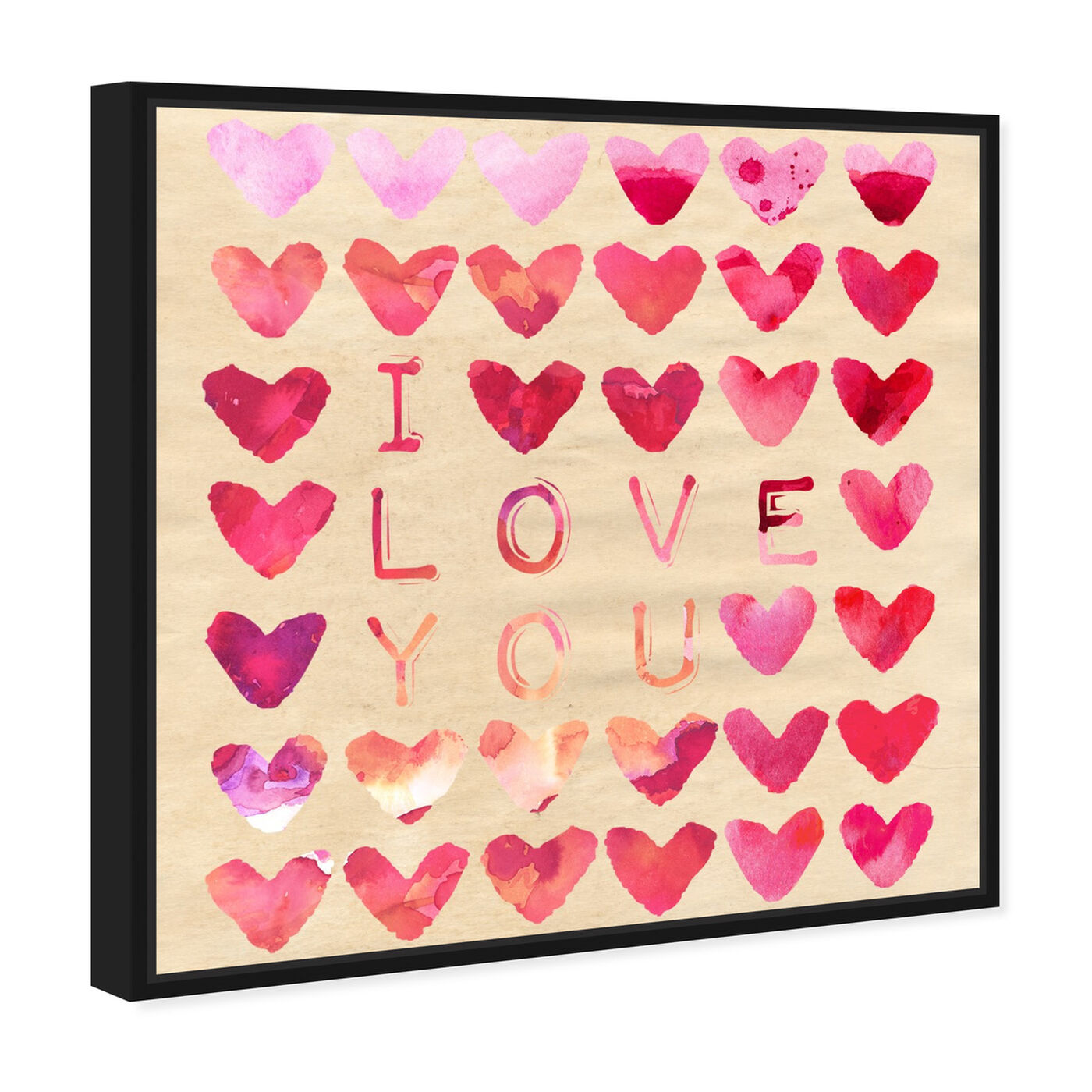 Angled view of I Love You featuring typography and quotes and love quotes and sayings art.
