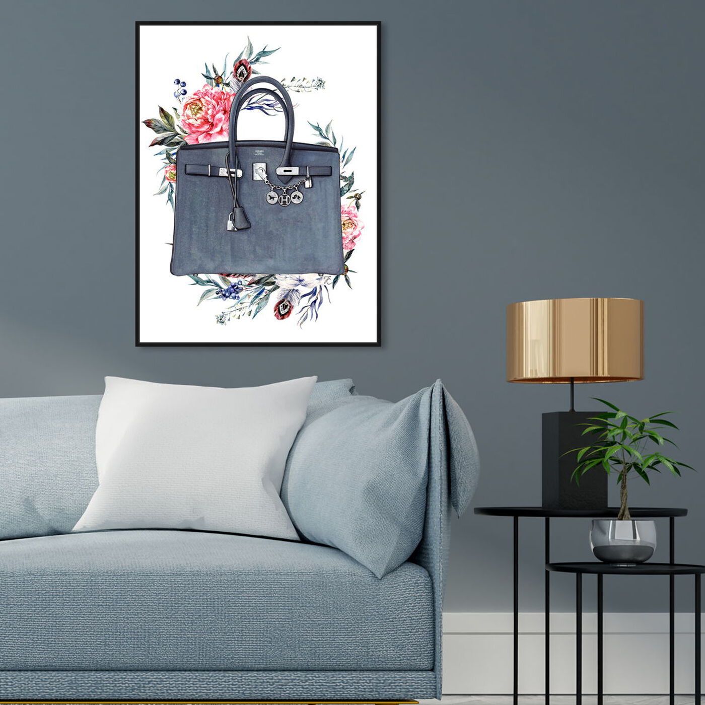 Hanging view of Doll Memories - Paris Glam and Flowers featuring fashion and glam and handbags art.