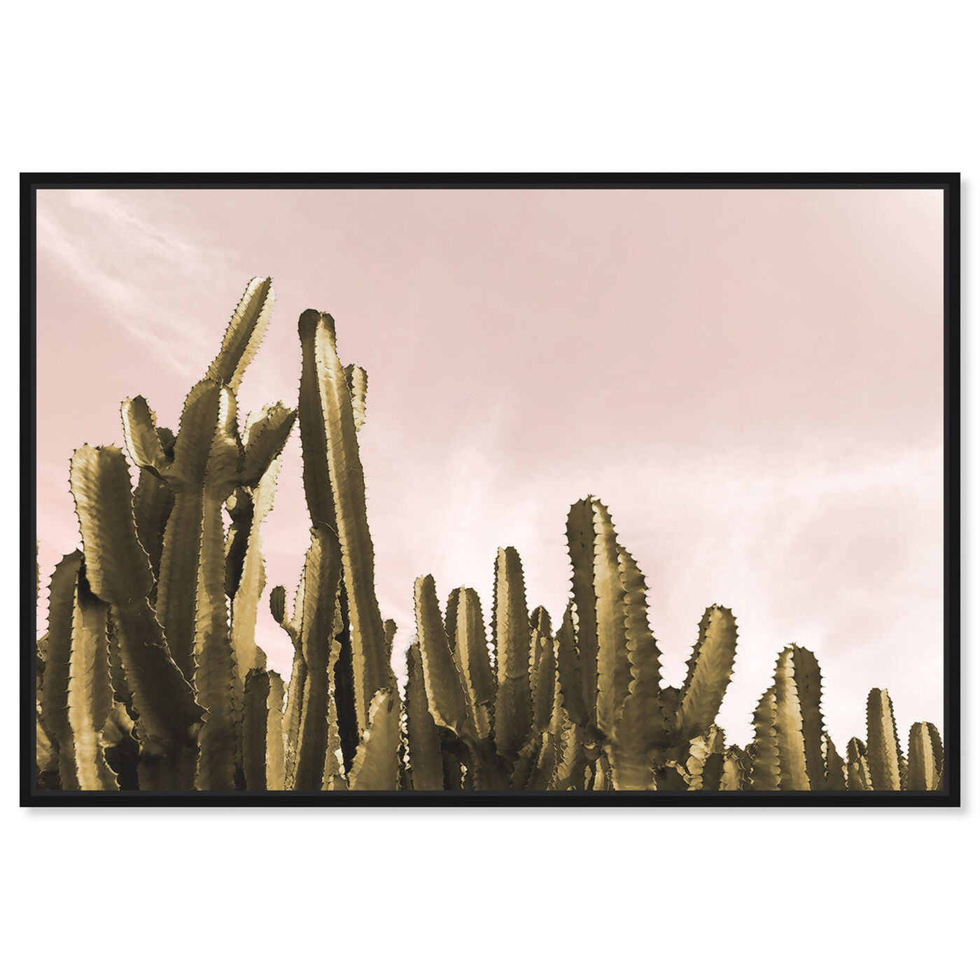 Front view of Dream Landscape Cactus featuring floral and botanical and botanicals art.