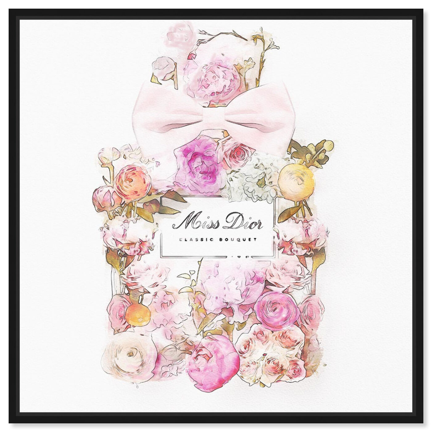 Front view of Beautiful Bouquet I featuring fashion and glam and perfumes art.
