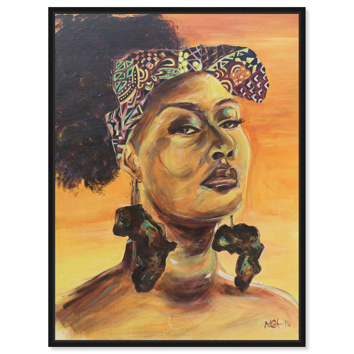 Front view of Marissa Anderson - African Pride featuring people and portraits and portraits art.