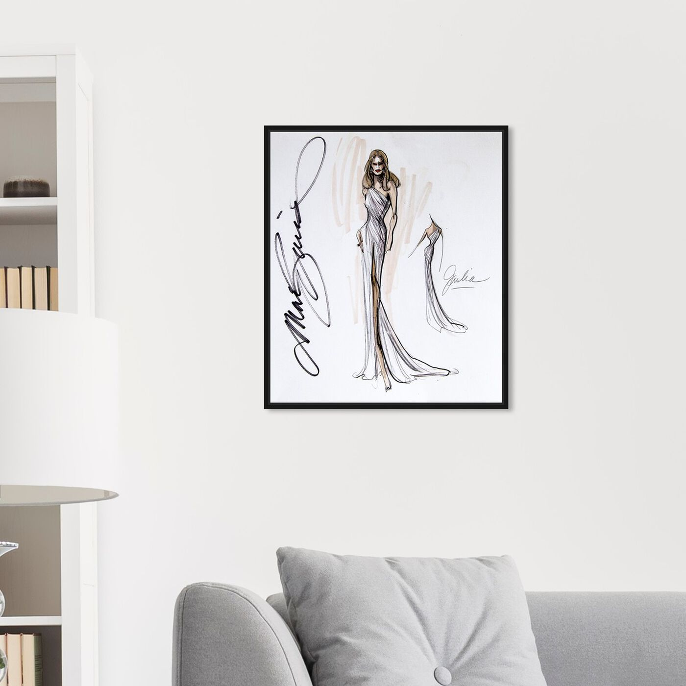 Hanging view of Mark Zunino - Julia featuring fashion and glam and sketches art.