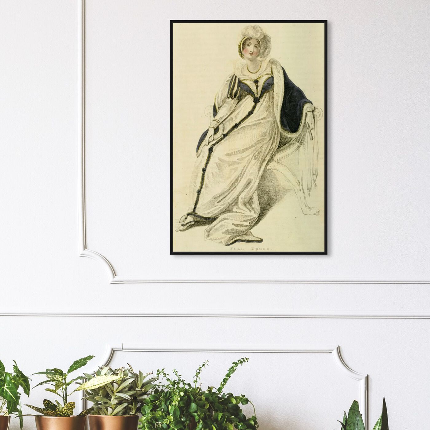 Hanging view of Full Dress III - The Art Cabinet featuring classic and figurative and realism art.