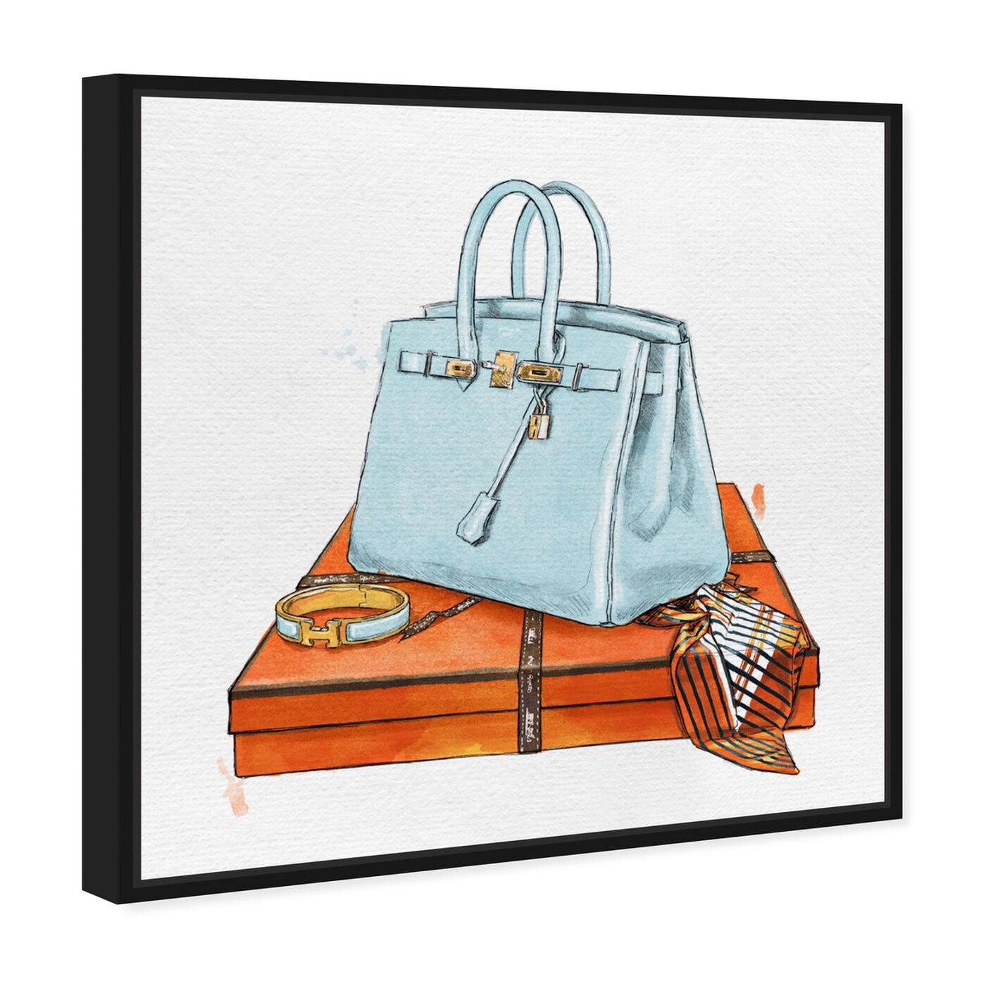 Angled view of My Bag Collection I featuring fashion and glam and handbags art.