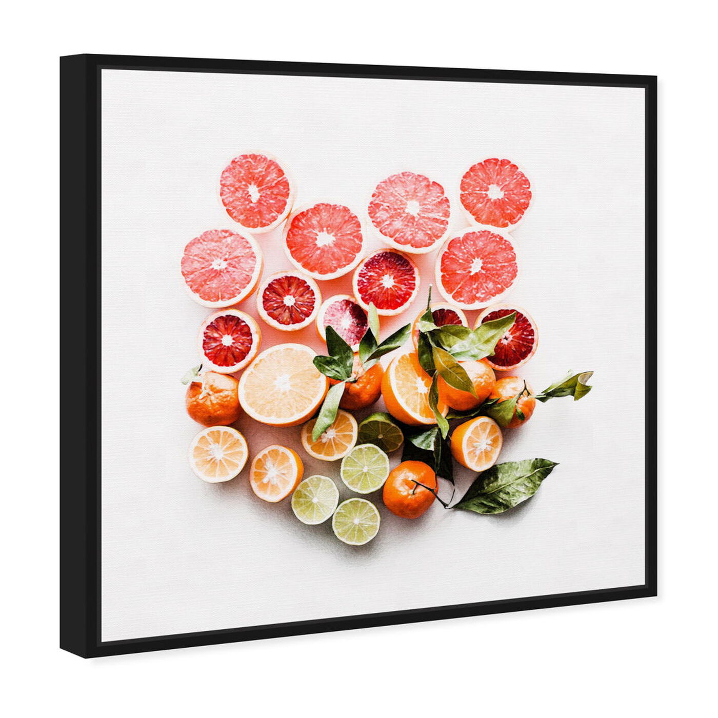 Angled view of Citrus Love featuring food and cuisine and fruits art.