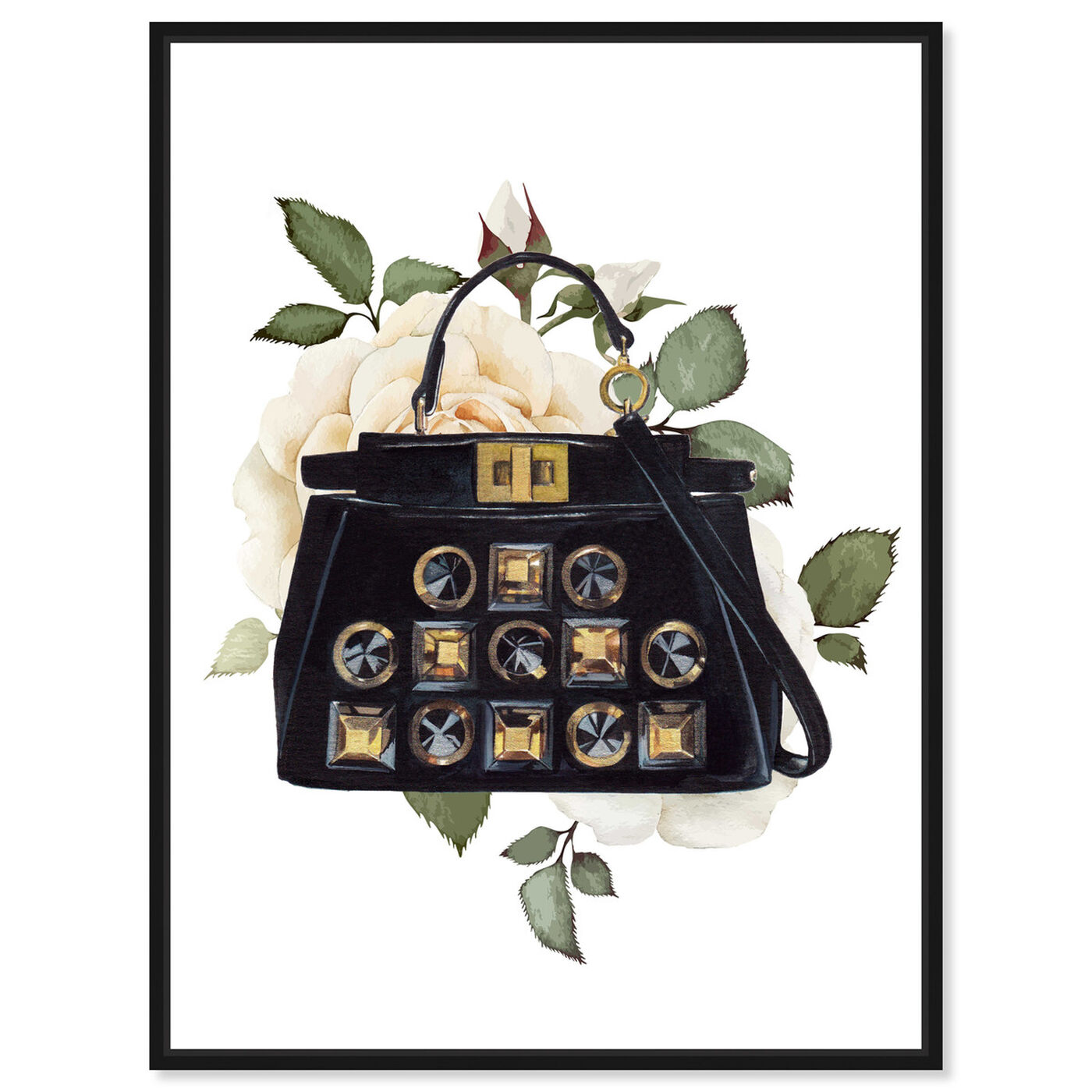 Front view of Doll Memories - Woman's Vintage Bag featuring fashion and glam and handbags art.
