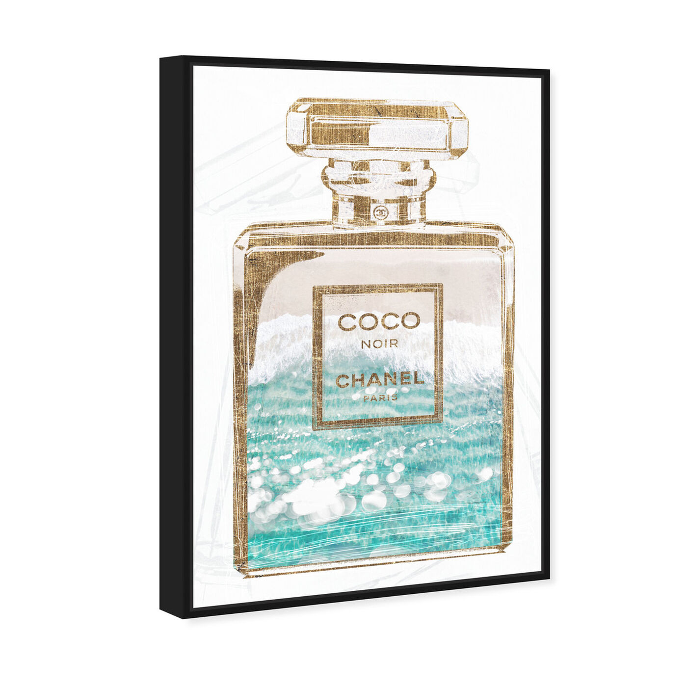 Angled view of Coco Water Love featuring fashion and glam and perfumes art.